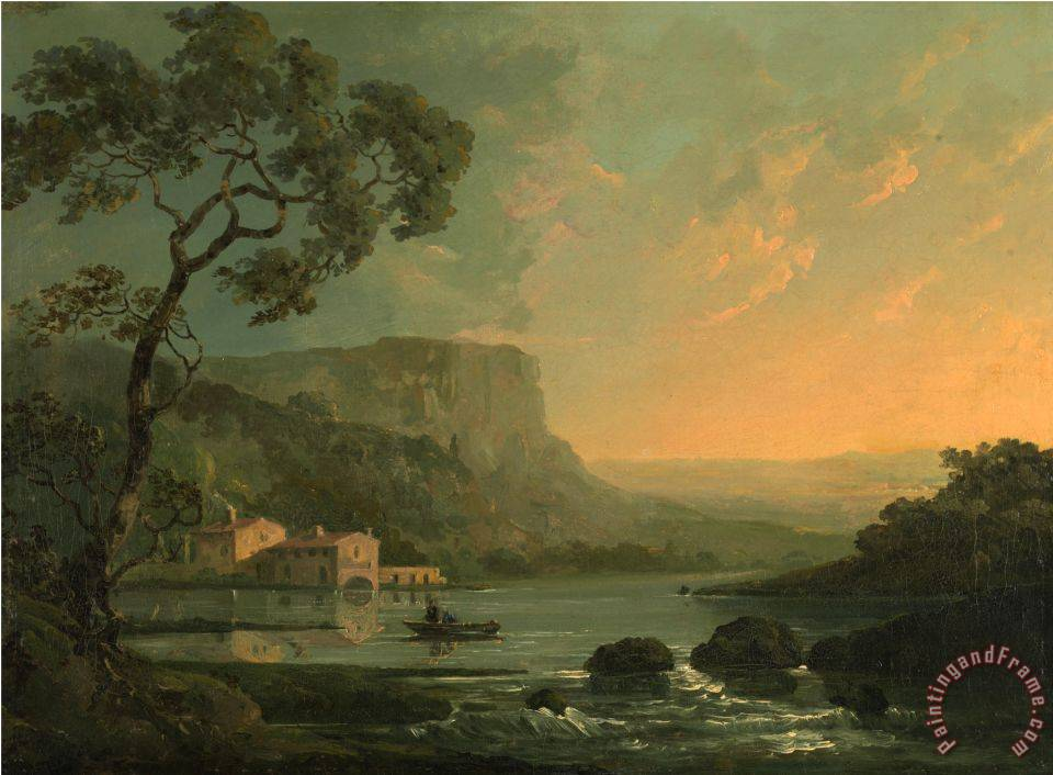 William Hodges Landscape With Fishermen On A Lake Painting