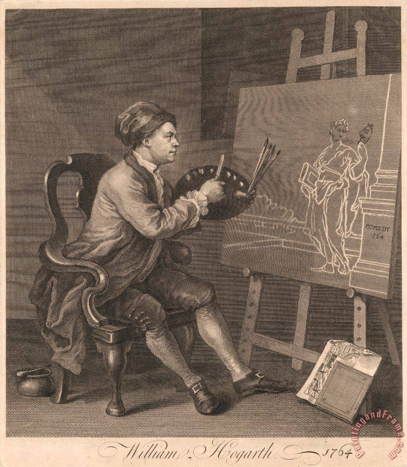 Hogarth Painting The Comic Muse painting - William Hogarth Hogarth Painting The Comic Muse Art Print