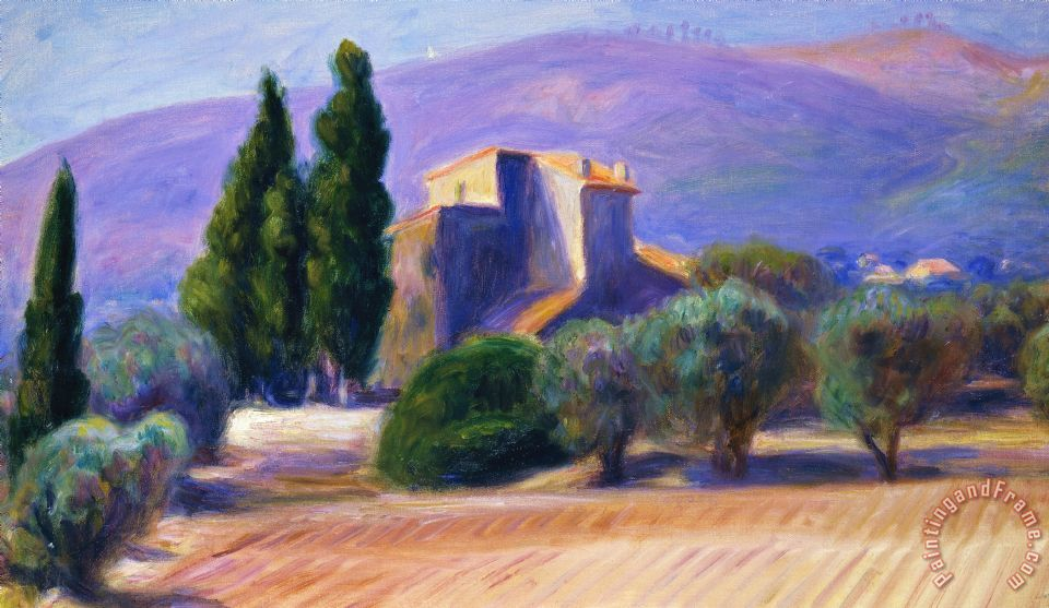 Farm House In Provence painting - William James Glackens Farm House In Provence Art Print