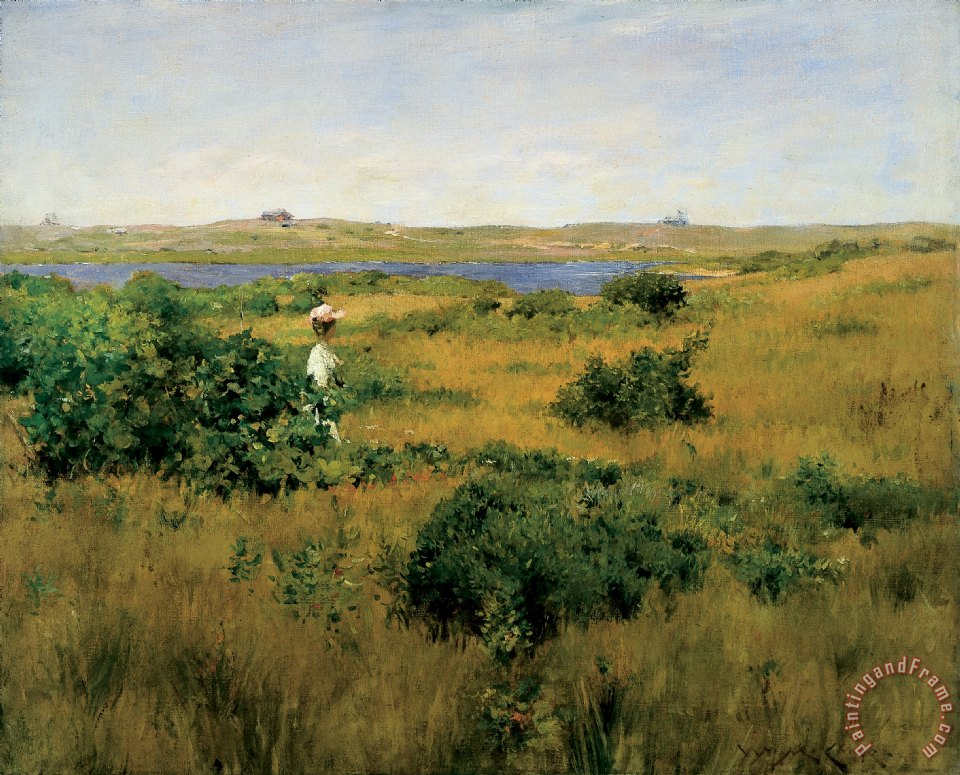 William Merritt Chase Summer at Shinnecock Hills Art Print