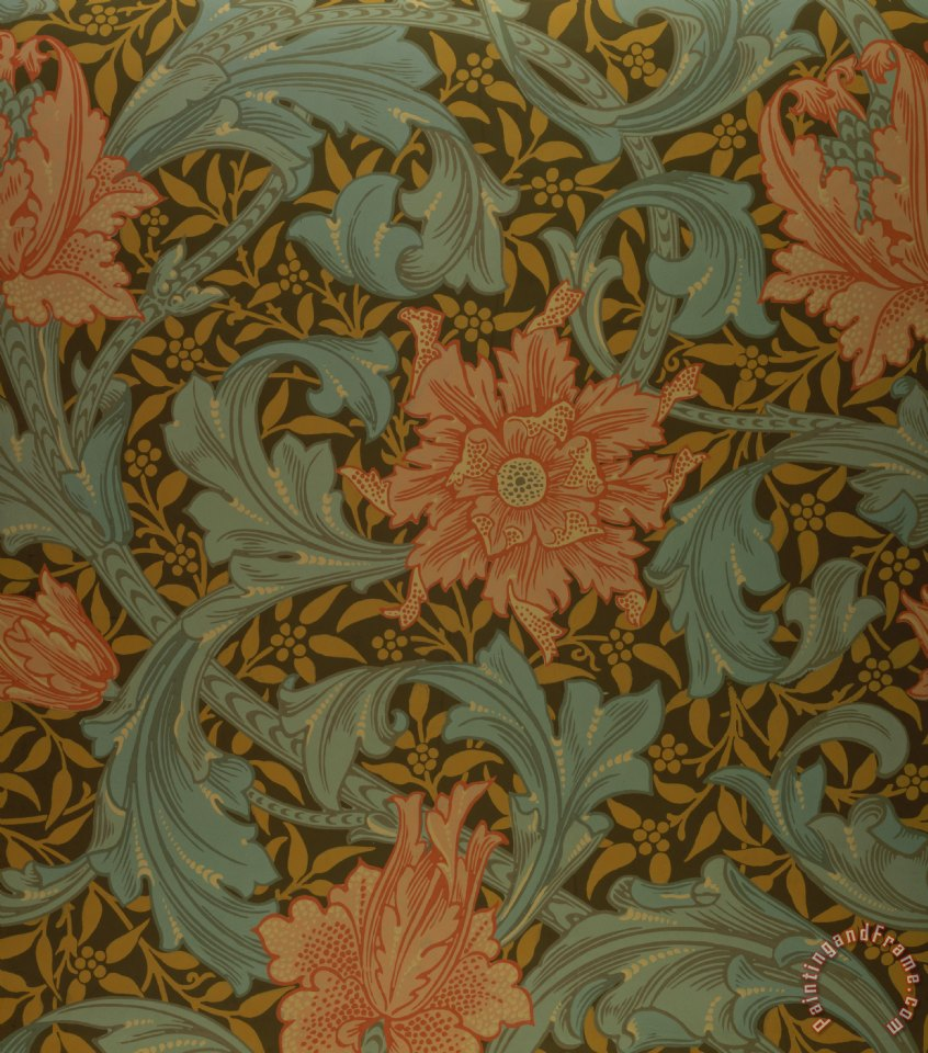 William Morris Single Stem Wallpaper Design Painting
