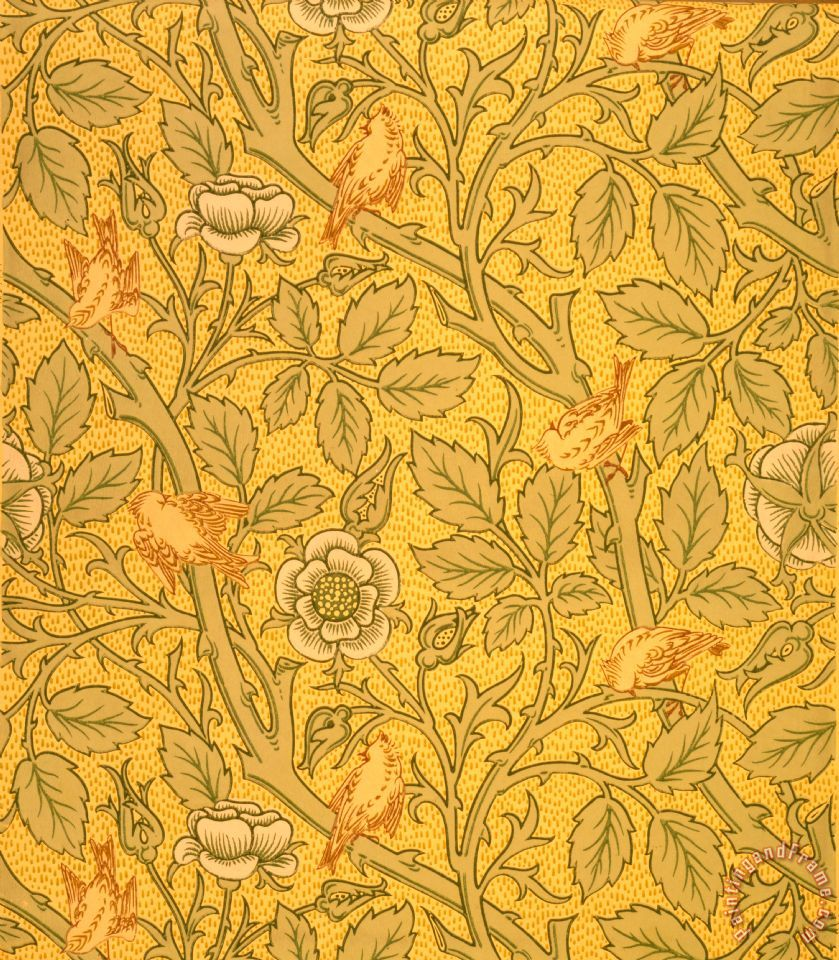 William morris bird wallpaper design painting bird for Designer wallpaper sale