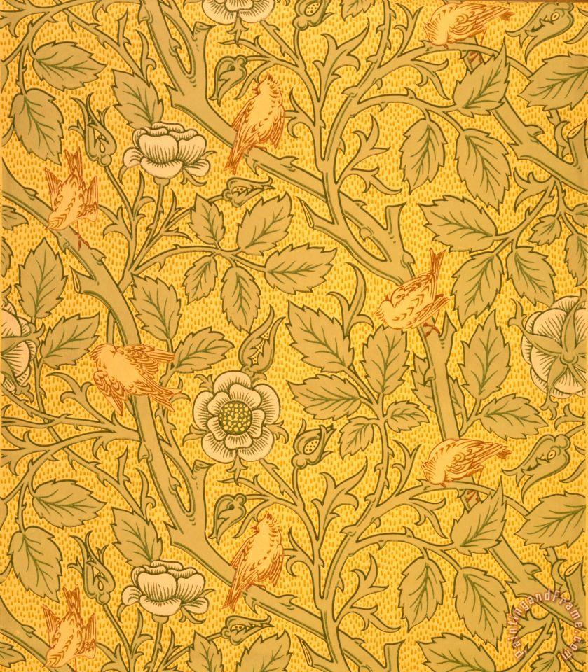 Bird Wallpaper Design Painting William Morris Art Print
