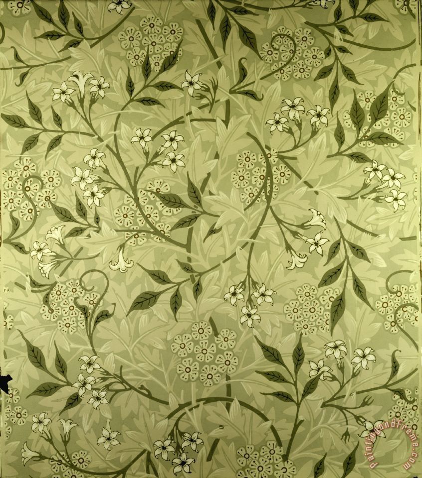 William morris jasmine wallpaper design art print for sale for Designer wallpaper sale