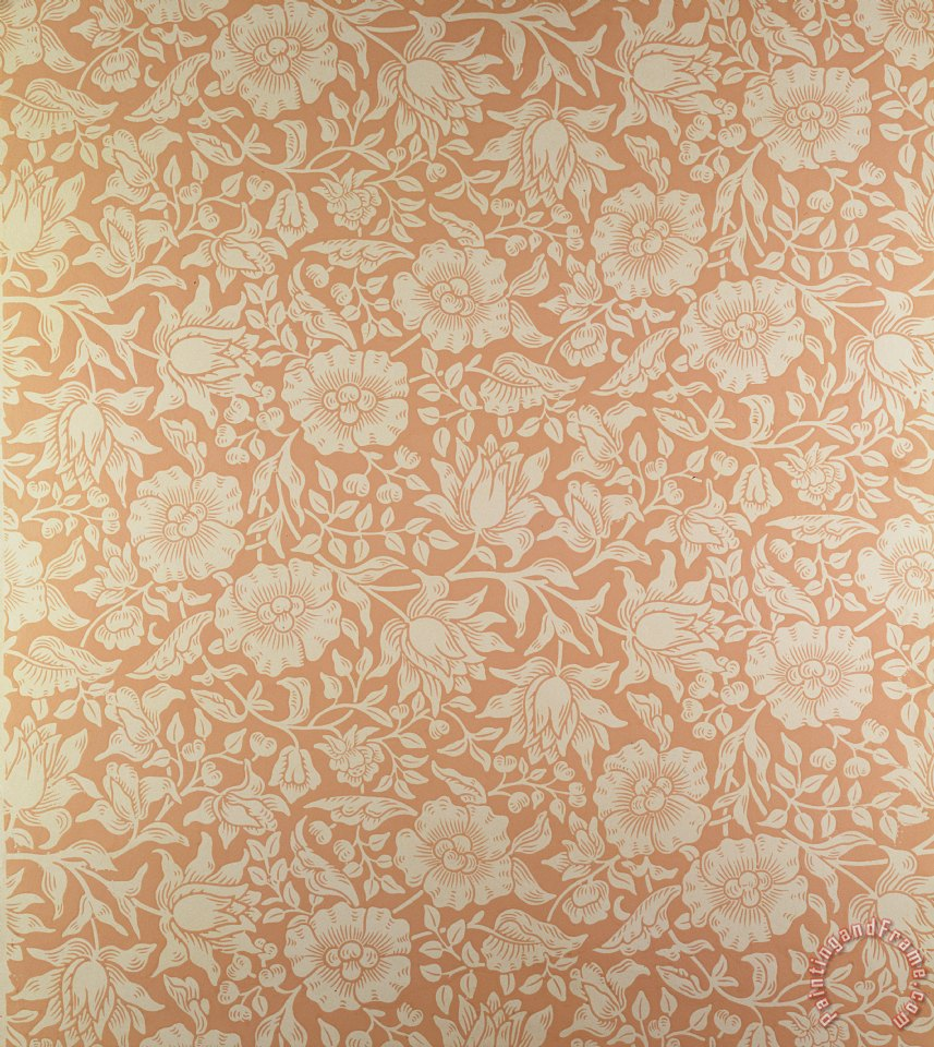 william morris mallow wallpaper design painting mallow