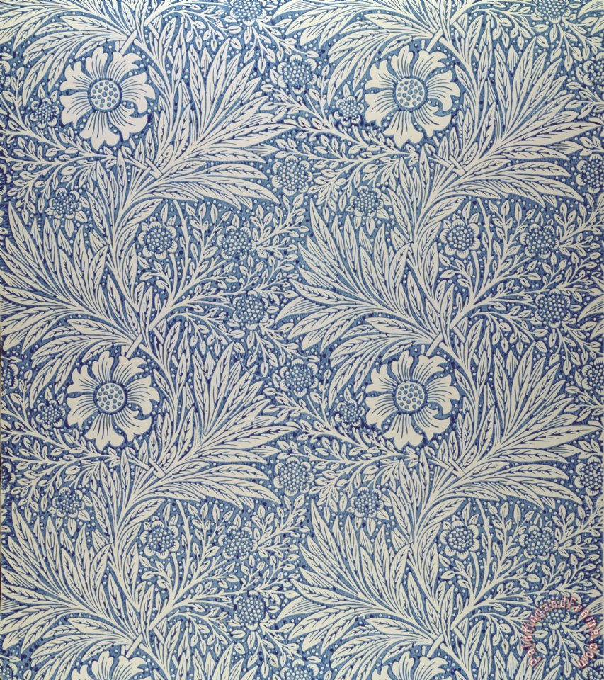 William Morris Marigold wallpaper design Art Painting