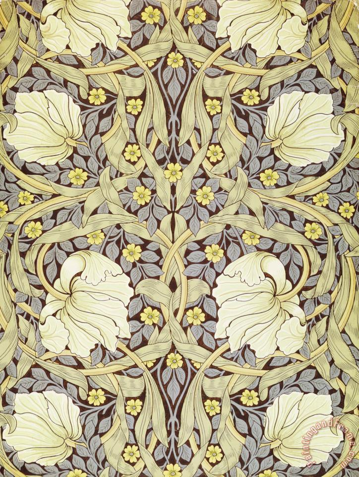 William Morris Pimpernell Wallpaper Design Painting