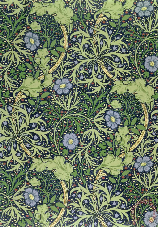 William Morris Seaweed Wallpaper Design Painting Seaweed