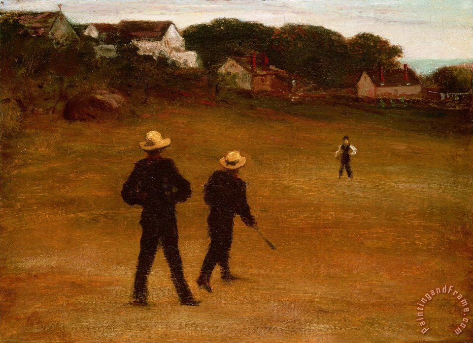 The Ball Players painting - William Morris Hunt The Ball Players Art Print