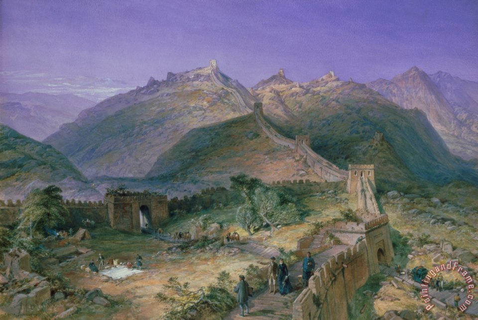 The Great Wall of China painting - William Simpson The Great Wall of China Art Print