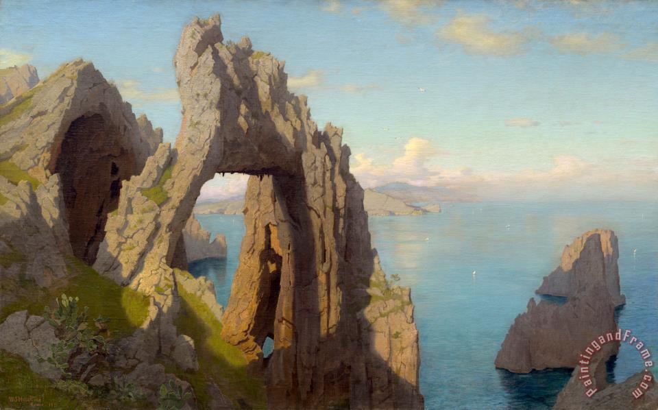 William Stanley Haseltine Natural Arch At Capri Painting