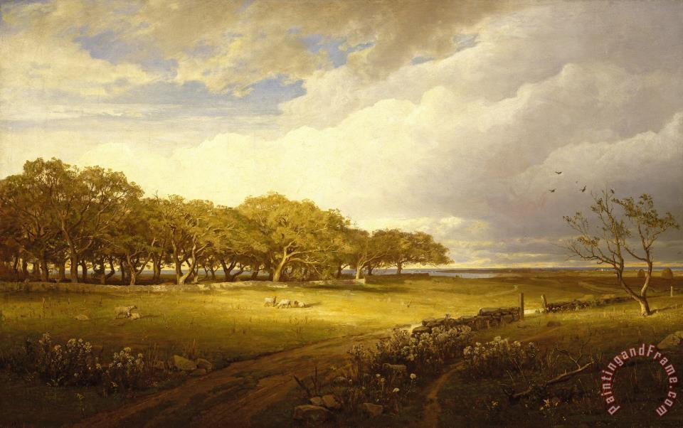 Old Orchard at Newport painting - William Trost Richards Old Orchard at Newport Art Print