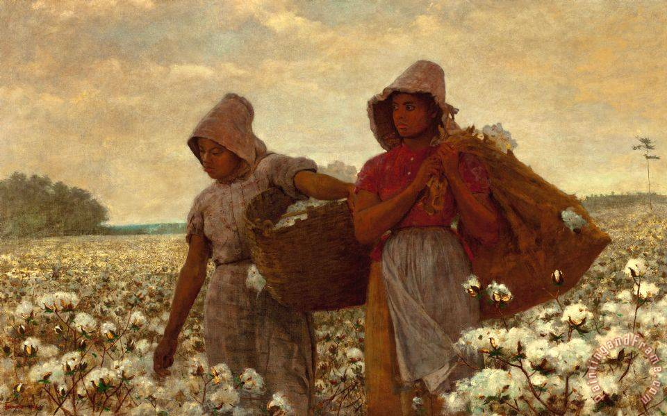 Winslow Homer The Cotton Pickers Art Painting
